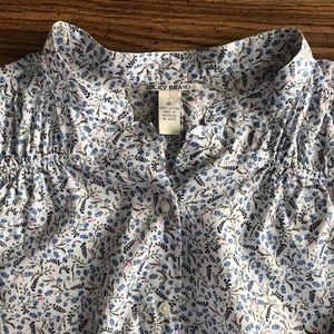 LUCKY BRAND Floral Button Up Blouse XL